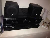 Cambridge audio CD player, amp and book shelf speakers