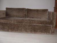 Italian Designer Mink Velvet Sofa Sofabed Pulls out to make 2 single or 1 double