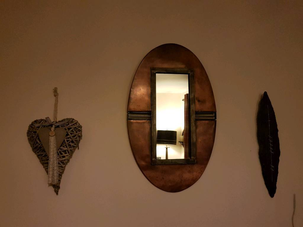Hand Crafted Copper & Metal Mirror