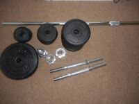 Barbell dumbbell set with weights