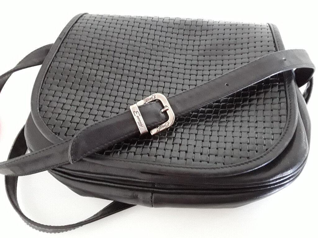 Genuine Italian Leather Cross-Body Bag by Emmy