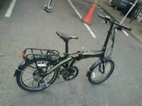 Carrera crosscity electric folding bike with extra in excellent condition