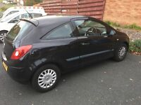 Vauxhall corsa black 07 1.0 long mot and only 2 owners
