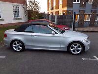 BMW 118D SE Convertable 2009(09) Silver, Good Condition, FSH