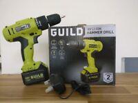 Guild Cordless Hammer Drill w Masonry Bit Set