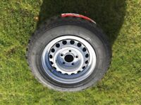 Trailer spare wheel and tyre, 5 stud, 185/70/13brand new.