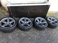 "19"" BMW alloys & nearly new run flat tyres"