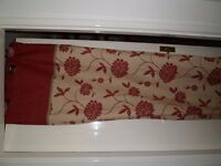 Red Floral Curtains 90 x 90 inches