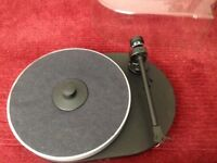 Project RPM 4 belt drive turntable, exceptional quality, boxed, with stylus, dust cover, and stand