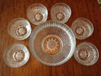 Retro/Vintage Trifle/dessertdish and 6 matching bowls