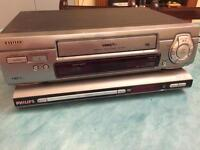 Aiwa VHS player + Philips DVD player (BROKEN)