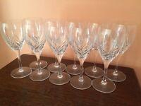 Royal Doulton lead crystal cut glasses, set of 10