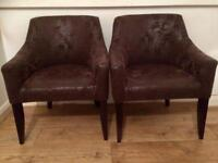 lUXRURY DESIGNERS CHAIRS PART SUEDE AND LEATHER X8
