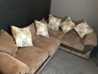 Harvey's Corner Sofa (mink coloured)
