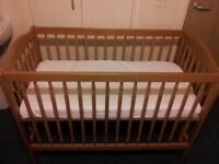IKEA Cot for sale, most solid they have ever made!