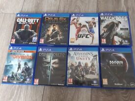 Black ops 3 Deus Ex Mankind Divided UFC Watchdogs The Division Dishonored 2 AC Unity Andromeda
