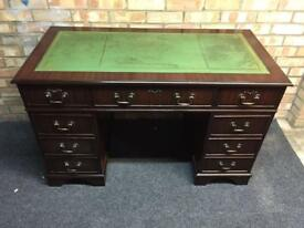 Leather Top desk (delivery available)