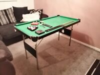 Hy pro snooker pool table 4ft 6inchs