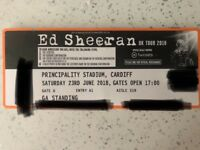 2x ED SHEERAN TICKETS SAT 23rd JUNE
