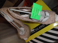 River Island Pink stilettos high heels with box and original packaging only been worn once size 7