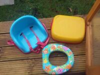CHILDS SEAT & TOILET TRAINER SEAT
