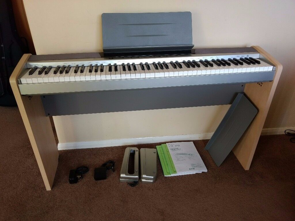 casio privia px 120 digital piano with stand cs 65p and pedal sp 3 in chesham buckinghamshire. Black Bedroom Furniture Sets. Home Design Ideas