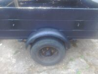 A car trailer 4feet x3feet 1foot highe leaf springs tex