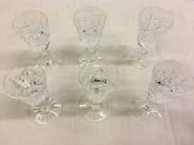 Edinburgh Crystal wine glasses, made in Scotland, hand-cut, set of 24