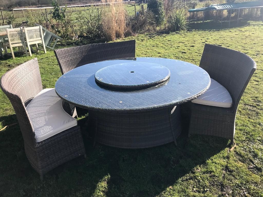 John Lewis Round Rattan Garden Dining Table And Chairs