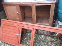 Rabbit/guinea pig hutch and separate run