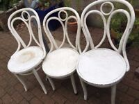 3 Thonet bistro bentwood chairs