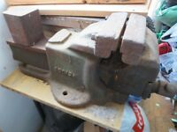 VINTAGE HEAVY DUTY ENGINEERS BENCH VICE – WODEN 190/8A QUICK RELEASE