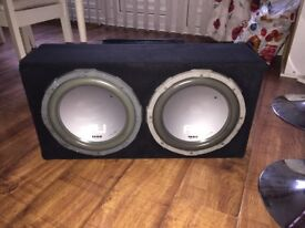 Twin subwoofer 1000w and extra!