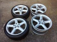 Porsche Boxster 18 genuine Artec racing wheels