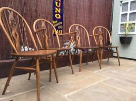 4 Ercol Dining Chairs
