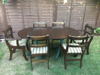 *Dining table and 6 chairs *