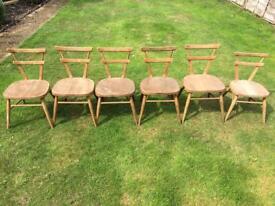 Vintage school solid wood chairs