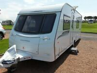 Coachman Pastiche 560/4, 2011, 4 berth, fixed double bed, rear toilet/shower room, excellent cond'n