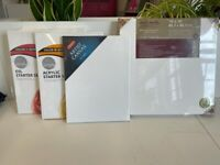Set of 7 art painting canvas (different sizes) UNUSED