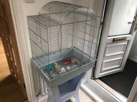 Budgies Cage, quick sale with accessories hardly used call 0797 3908 604. £55.00 Collection only