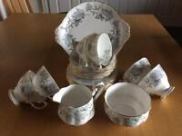 ROYAL ALBERT SILVER MAPLE TEA SET