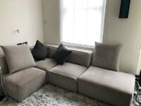 BoConcept Velvet Sofa, Cushions, Pillows, Coffee Table, Carpet & Side table, Modular, Bo Concept