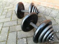 40KG CAST IRON DUMMBELL WEIGHT SET