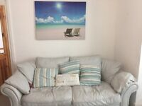 leather sofa and chair curtains 2 mirrors 2 lamps cushions picture all matching