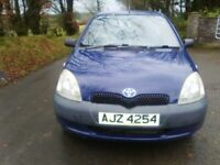 Toyota, YARIS, Hatchback, 2001, Manual, 998 (cc), 3 doors