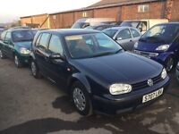 VW GOLF IN NICE CONDTION 1600 cc engine good driver 1years mot in navy blue px welcome anytrial