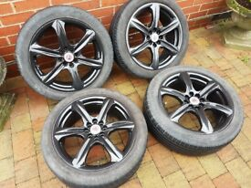 "17"" 4x100 & 4x108 Wolfrace alloy wheels mint condition"