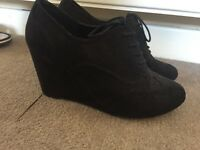 Brogue wedges size 7