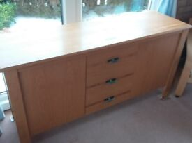 Wade light oak sideboard