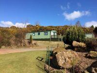 Static holiday caravan in South West Scotland overlooking Kirkcudbright bay.